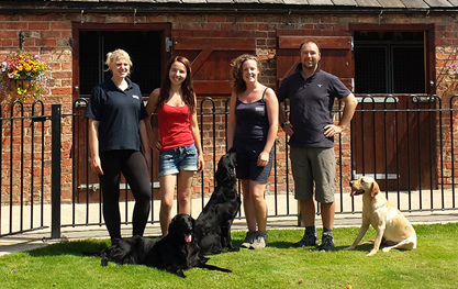 The team at Derrings Kennels